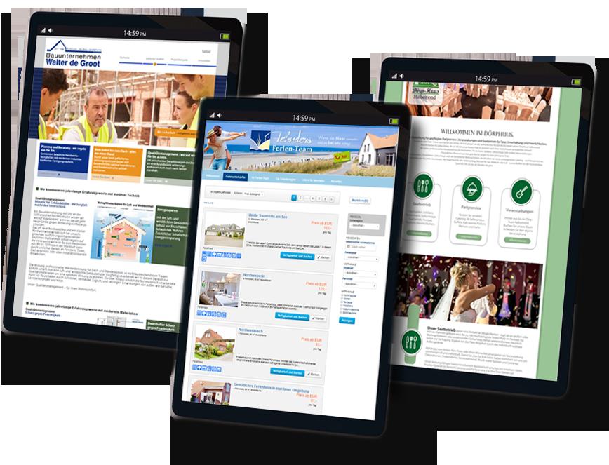 internetseiten, single pages,buchungssysteme, shopsysteme,firmenauftritt